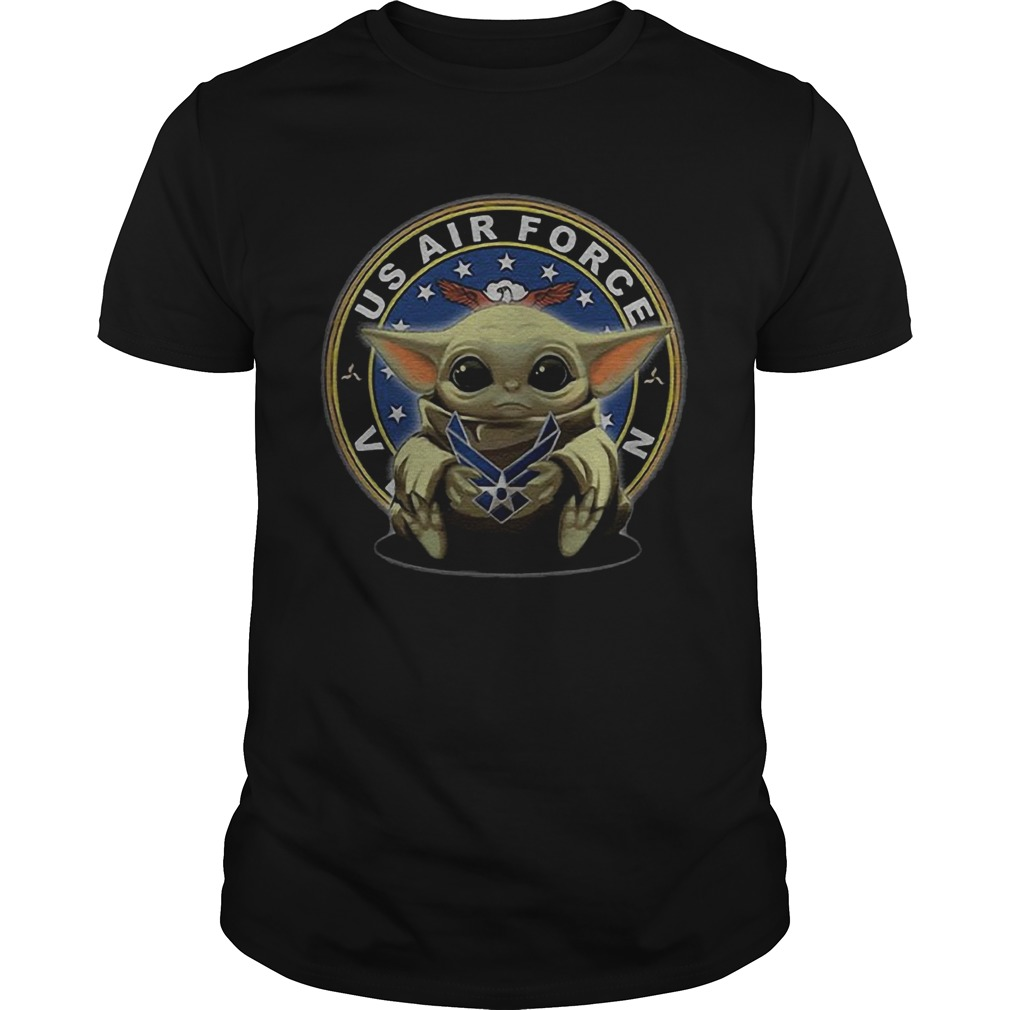 Baby Yoda Hugging Us Air Force Veteran  Unisex