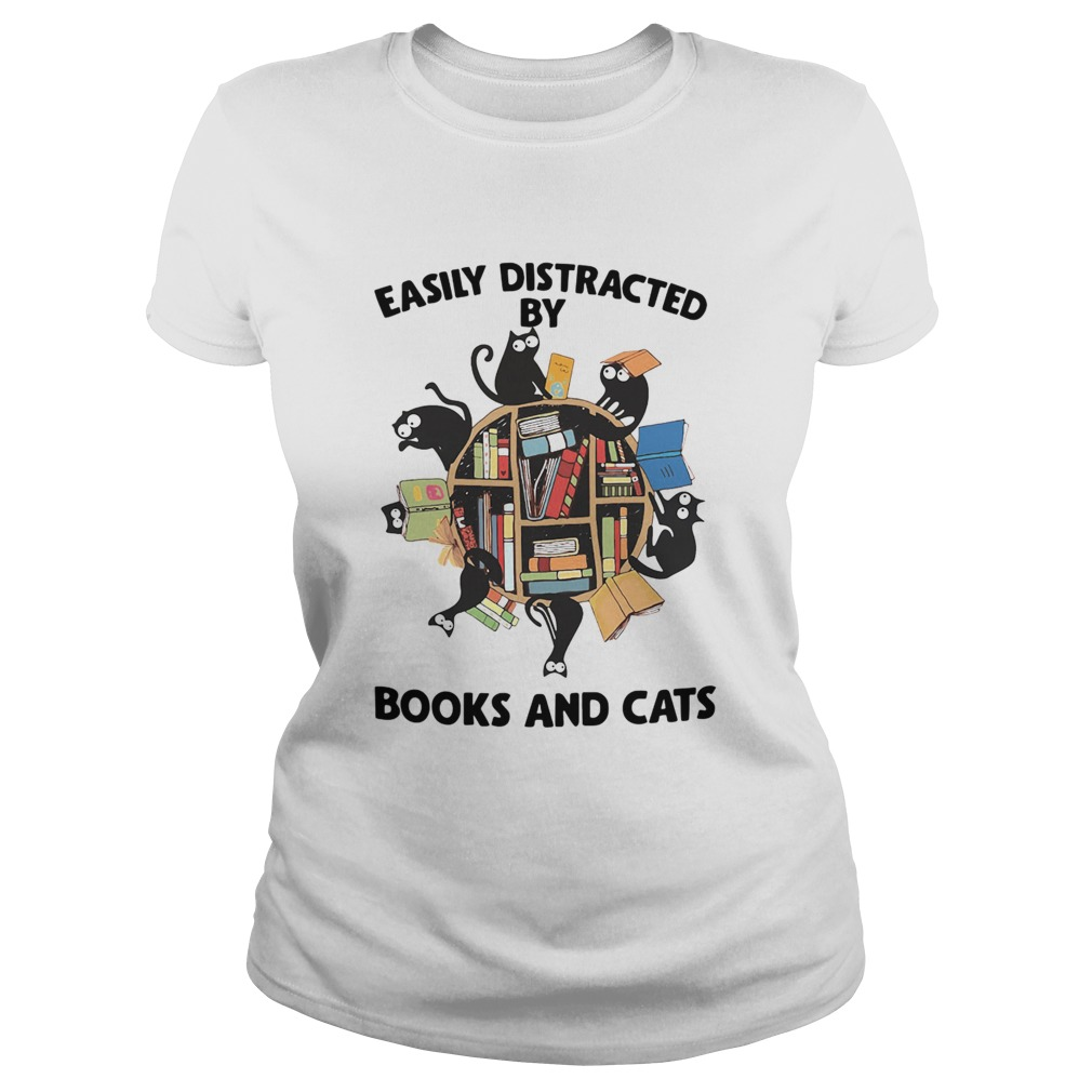 Easily Distracted By Books And Cats  Classic Ladies