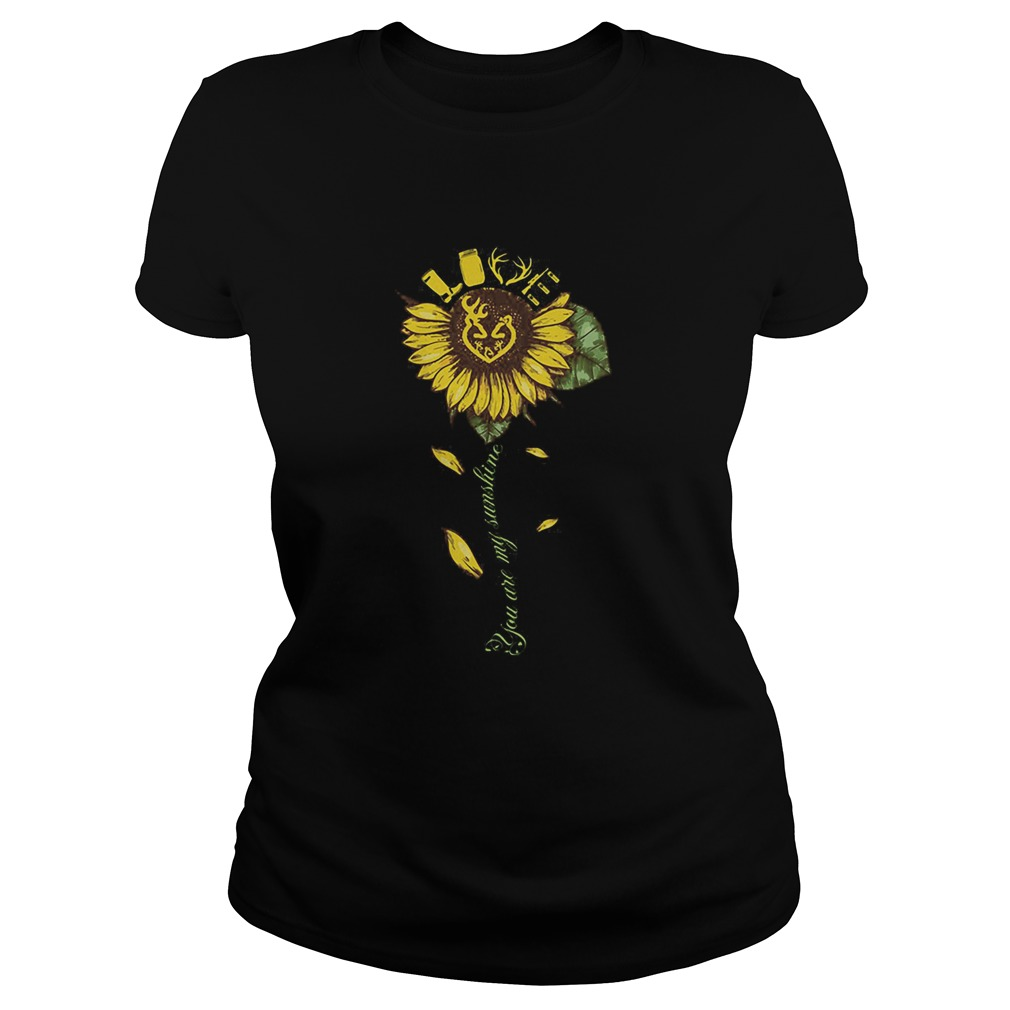 Sunflower deer hunting love deer you are my sunshine  Classic Ladies