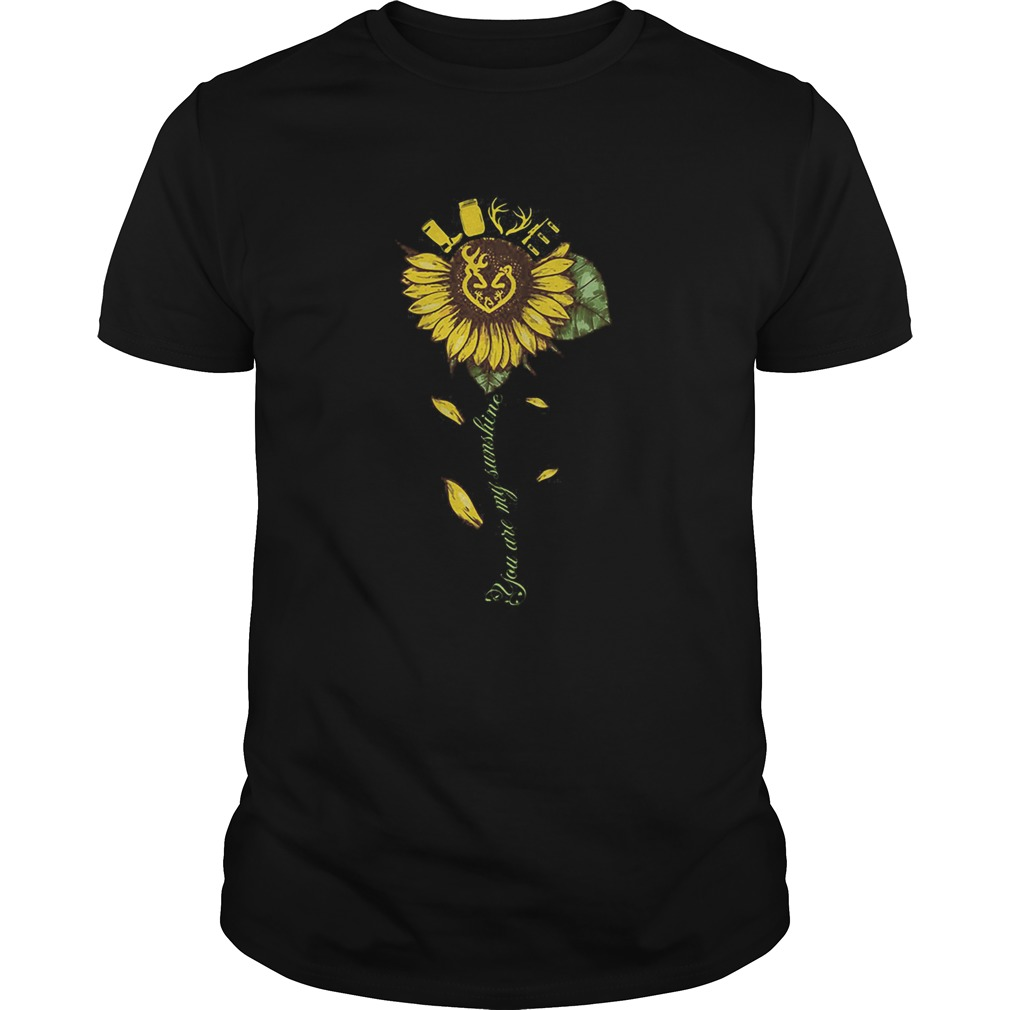 Sunflower deer hunting love deer you are my sunshine  Unisex