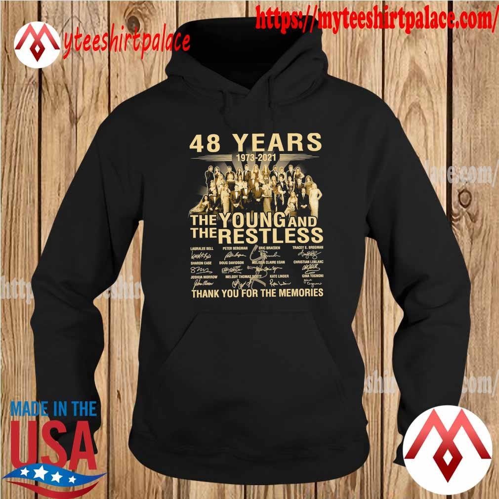 48 years 1973 2021 The Young and The Restless thank you for the memories signatures s hoodie