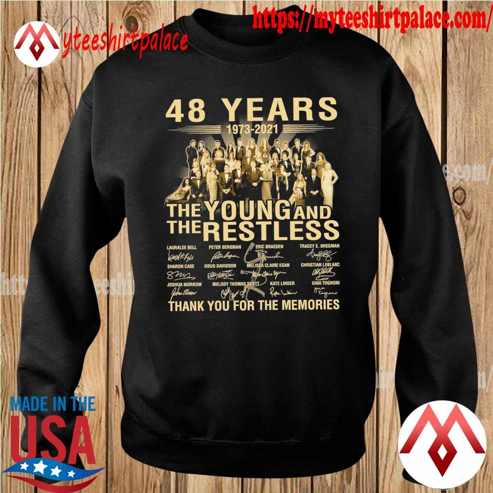 48 years 1973 2021 The Young and The Restless thank you for the memories signatures s sweater