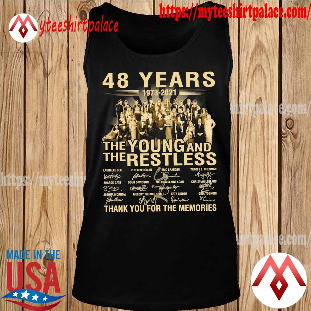 48 years 1973 2021 The Young and The Restless thank you for the memories signatures s tank top