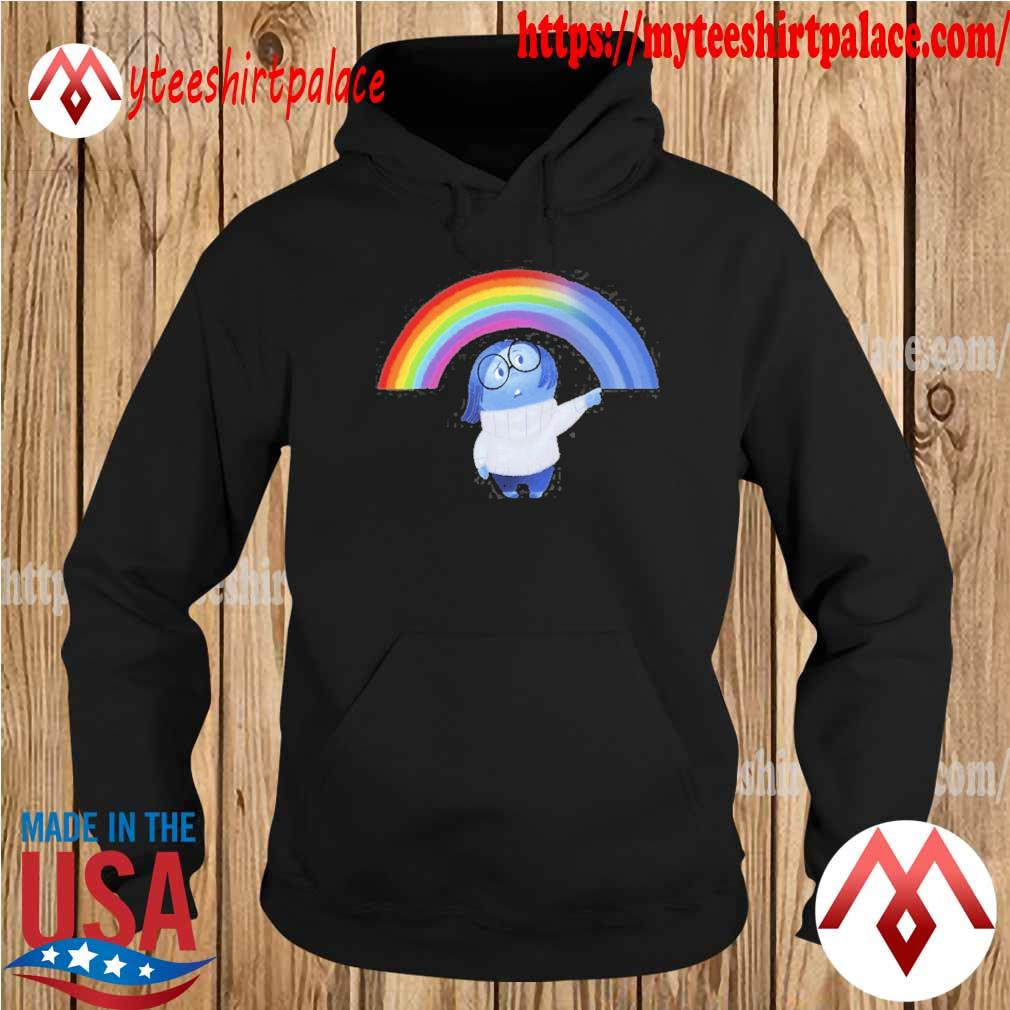 Inside out sadness rainbow graphic s hoodie