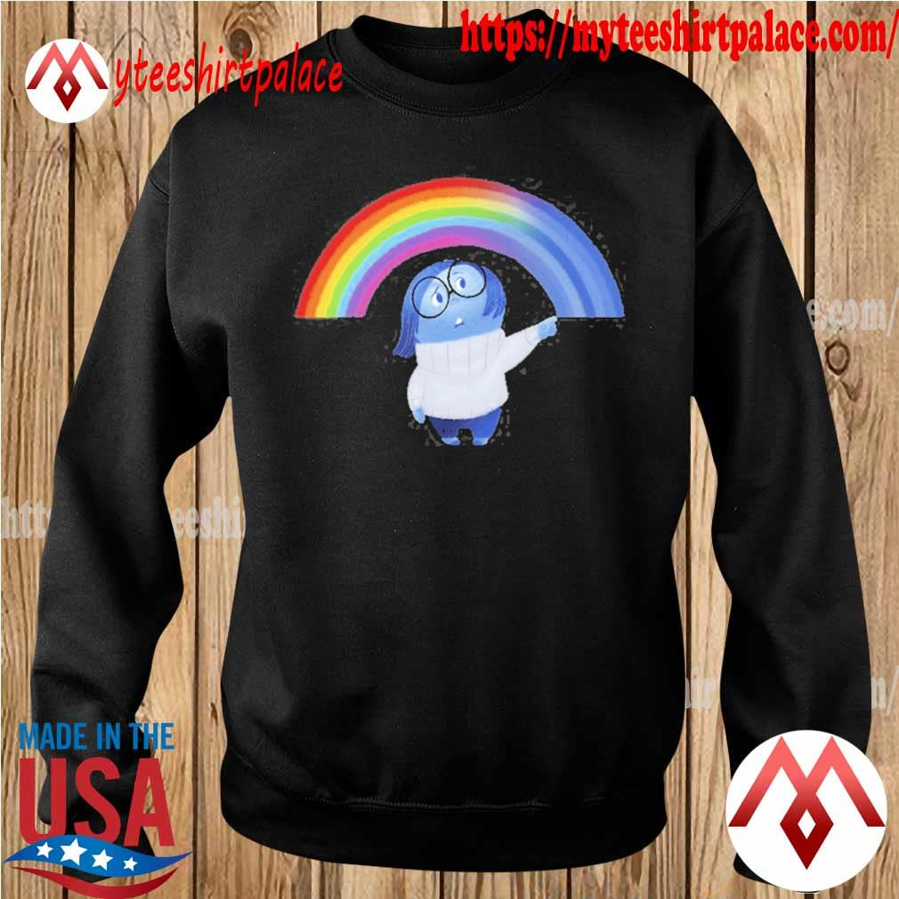 Inside out sadness rainbow graphic s sweater