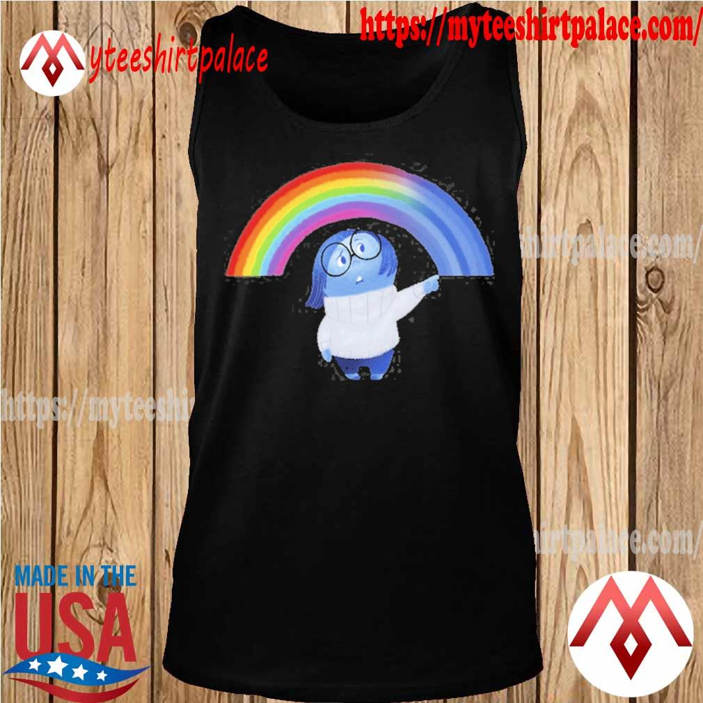 Inside out sadness rainbow graphic s tank top