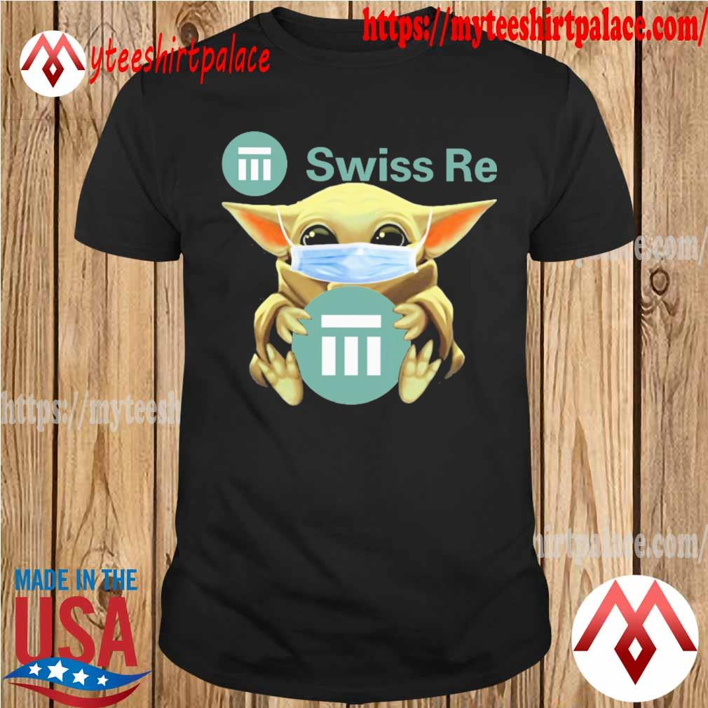 Baby Yoda face mask hug Swiss Re shirt
