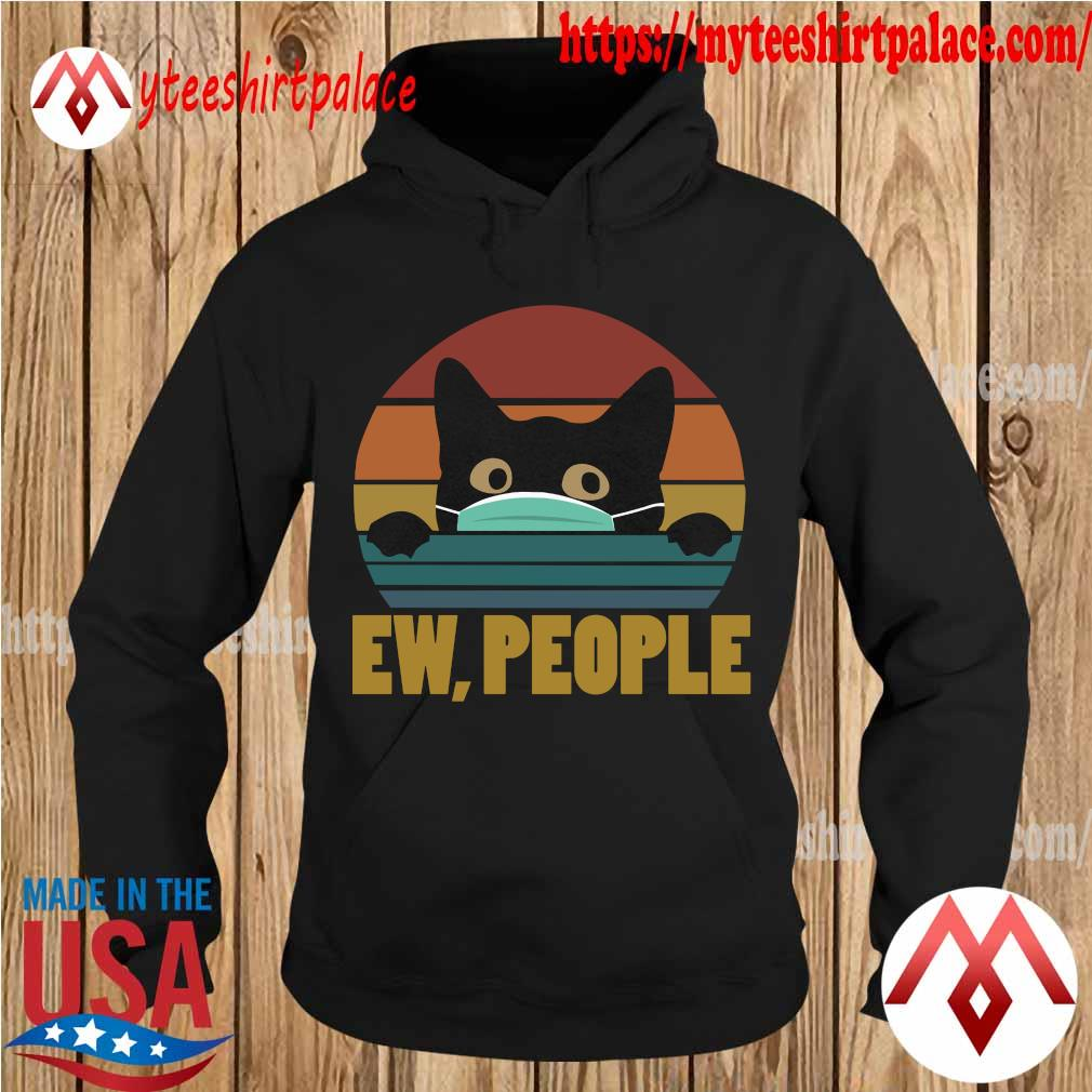 Cat Face Mask Ew People vintage s hoodie