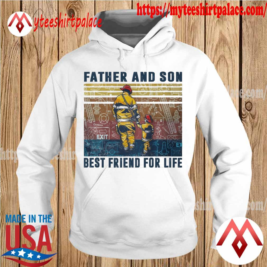 Firefighter Father and Son Best friend for life vintage s hoodie