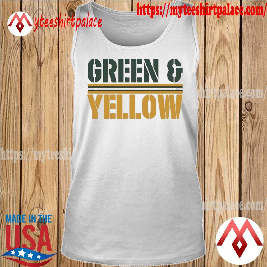 Green Bay Packers and Yellow Shirt tank top