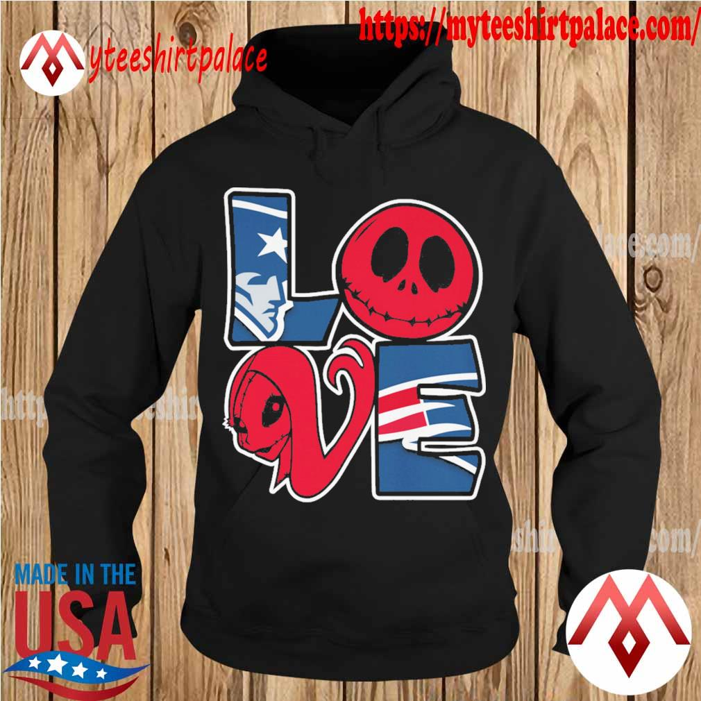 Jack Skellington and Sally love New England Patriots s hoodie