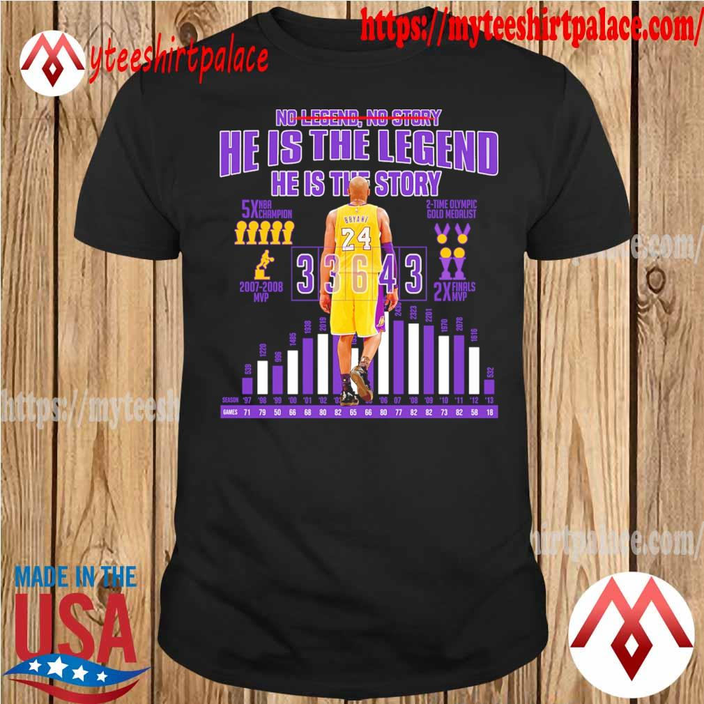 Kobe Bryant so story he is the legend he is the story shirt