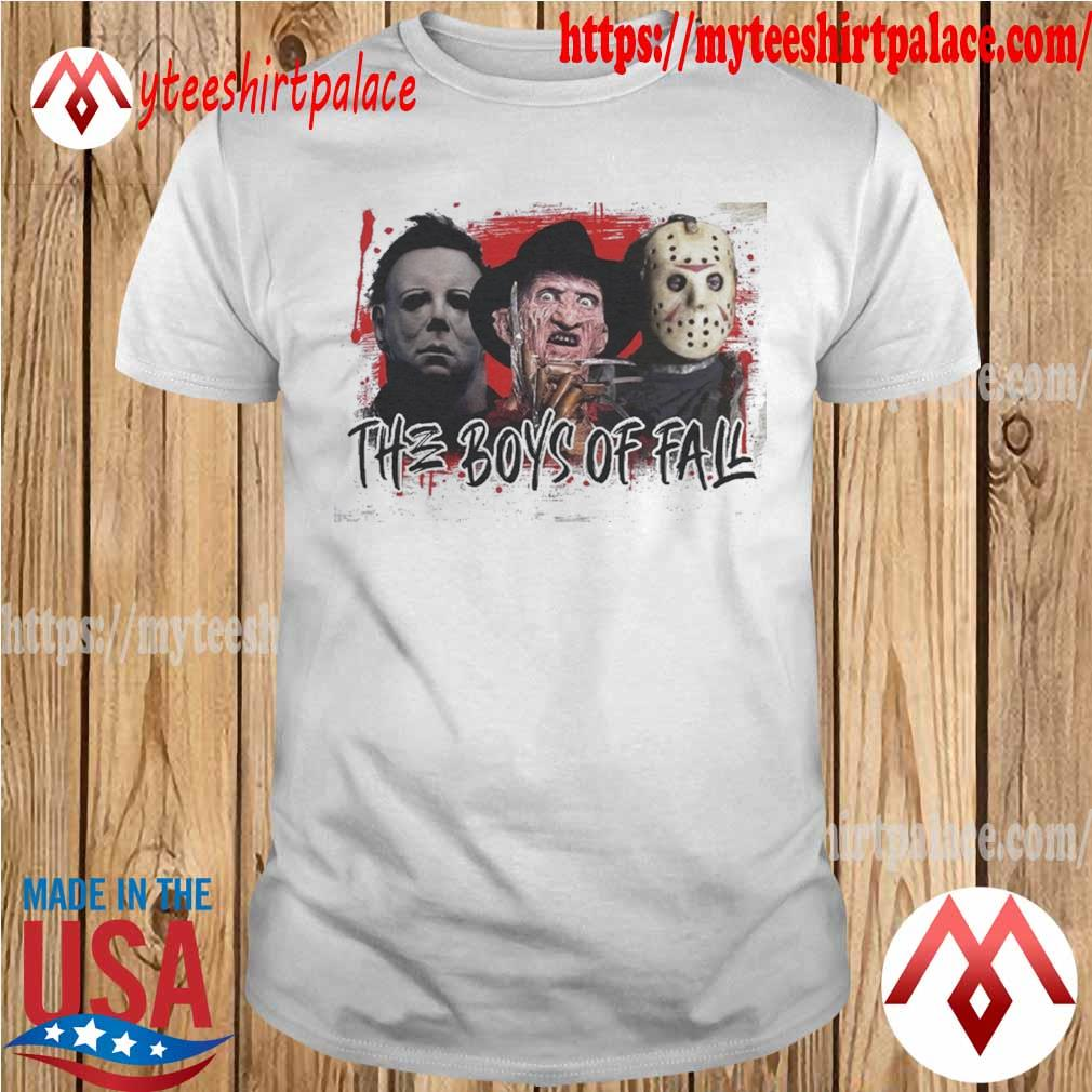 Michael Myers Freddy Krueger and Jason Voorhees the Boys of fall Halloween shirt