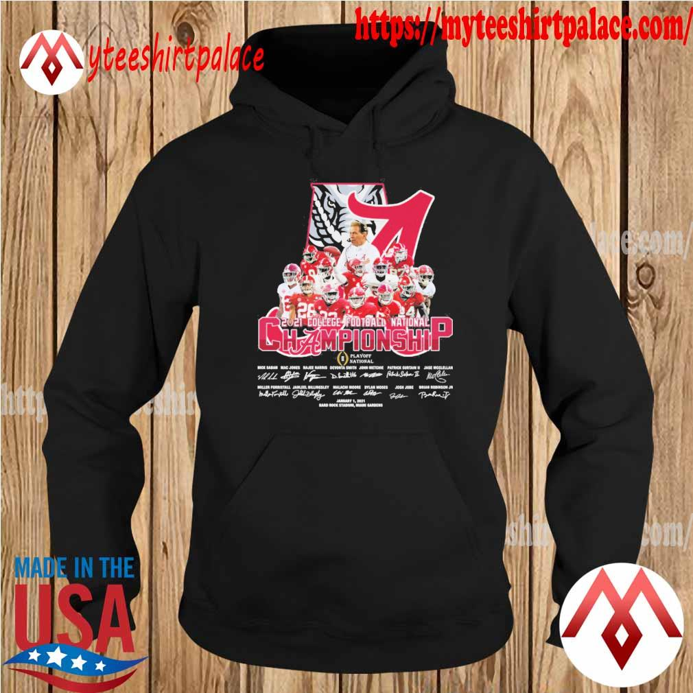 Official Alabama Crimson Tide 2021 College Football National Championship signatures s hoodie