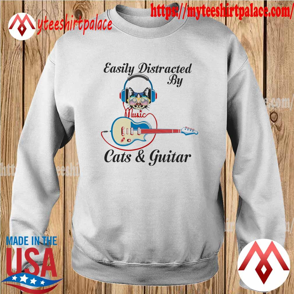 Official Easily Distracted By Music Cats and Guitar s sweater