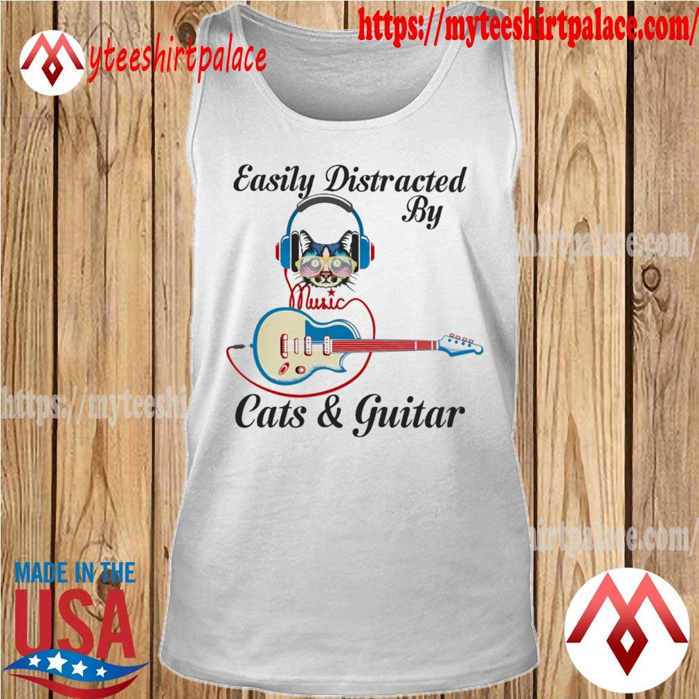 Official Easily Distracted By Music Cats and Guitar s tank top