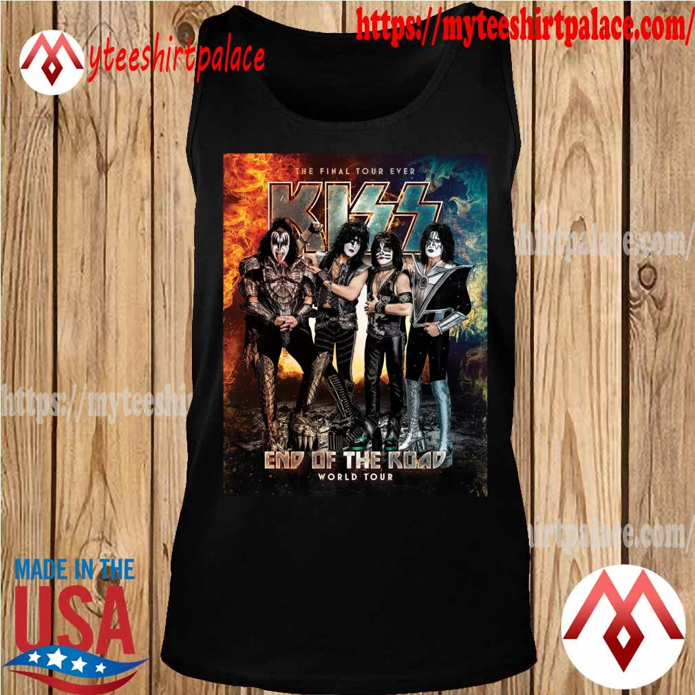Official Kiss Band end of the Road world Tour 2021 s tank top