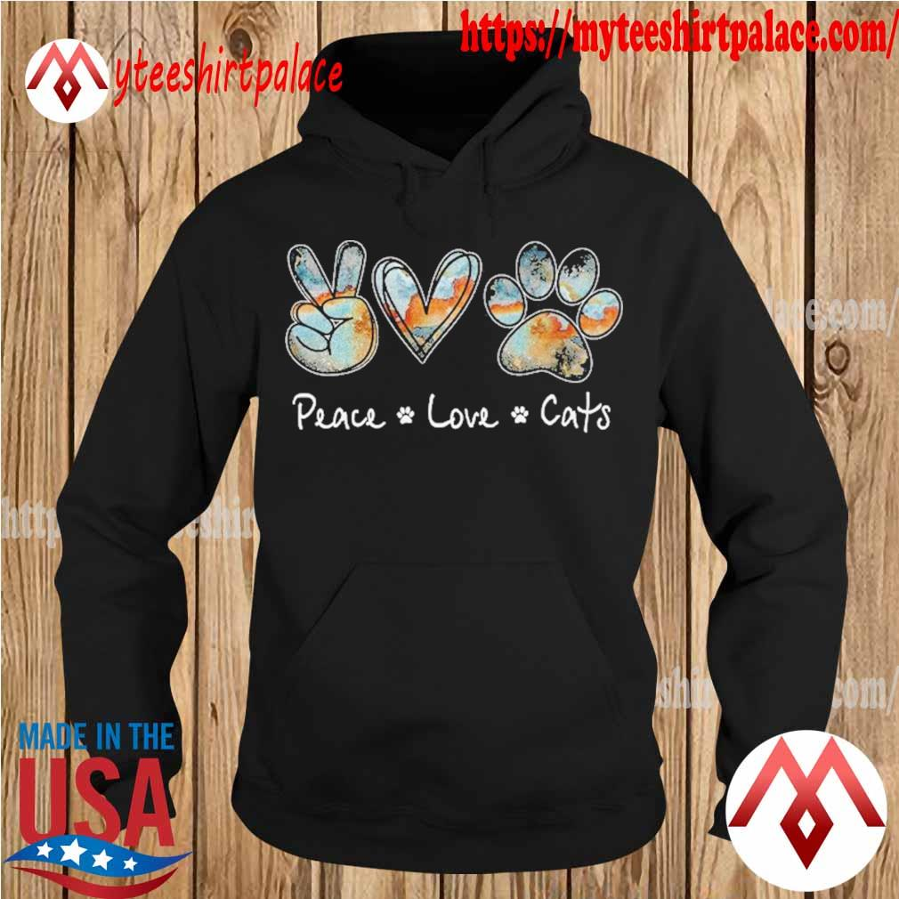Peace Love Cats Paw s hoodie
