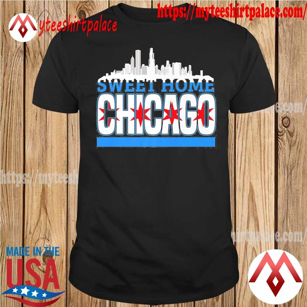 Sweet Home Chicago flag shirt