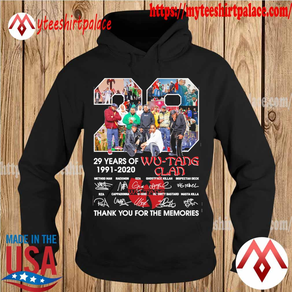 Wu Tang Clan 29 years of 1991 2020 thank you for the memories signatures s hoodie